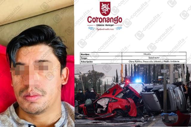 Funcionario de Coronango, chofer en fatal choque de Villa Verde