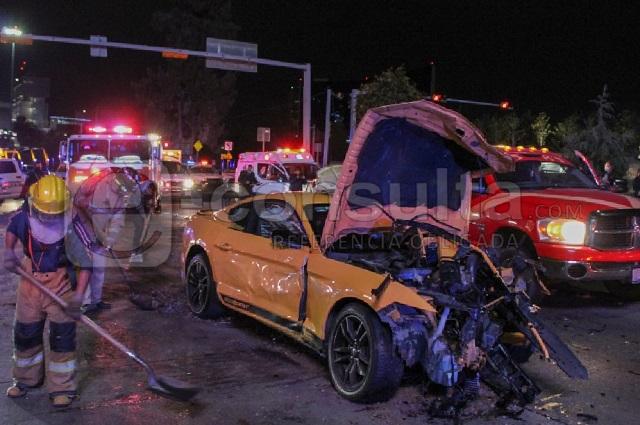 Video: chofer del Mustang sí huía de policía al chocar en la Vista