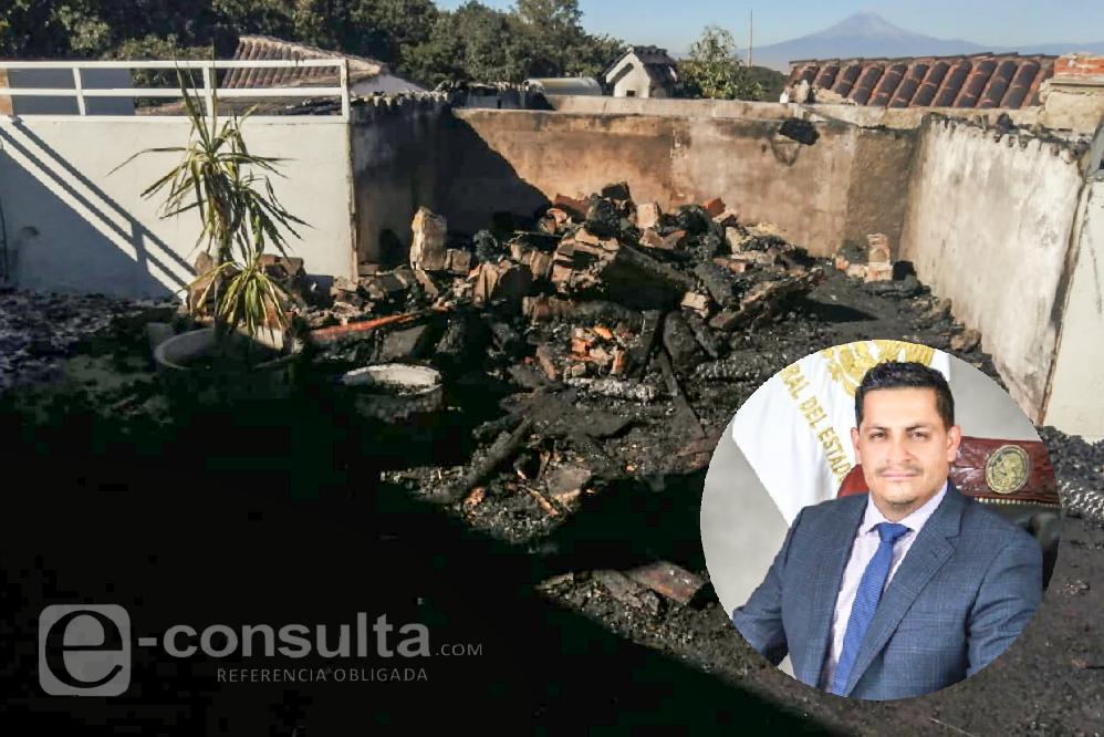 Incendio en casa del magistrado Fredy Erazo fue por una chimenea