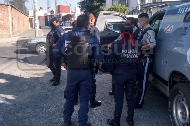 Se llevan 6 mdp de camioneta de valores en Puebla
