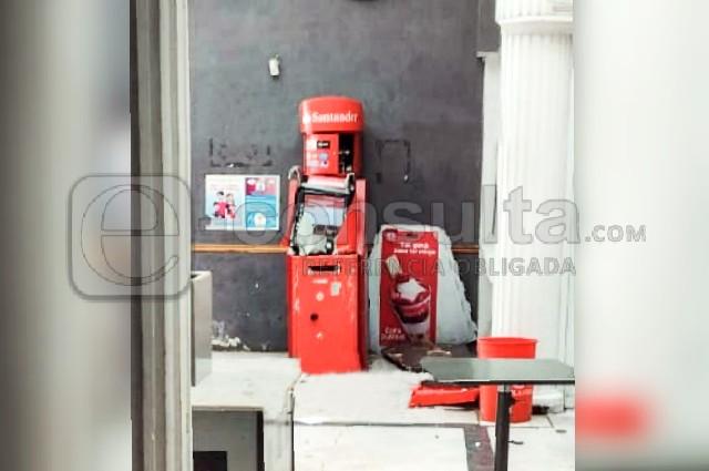 Comando intenta robar cajero automático en  Lara Grajales
