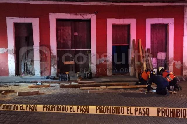 Se derrumba casona en el barrio de La Luz; 1 herido