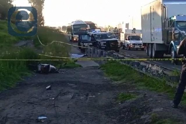Fallece motociclista tras choque en la Puebla-Orizaba