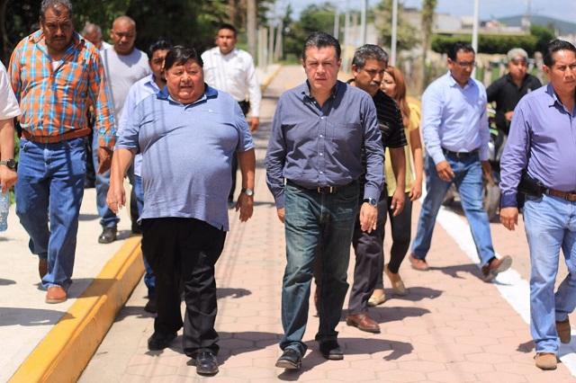 Supervisa delegado de Sedatu obras en la Mixteca poblana