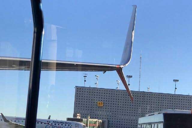 Fotos: Aviones de Aeroméxico rozan sus alas en AICM y causan alarma