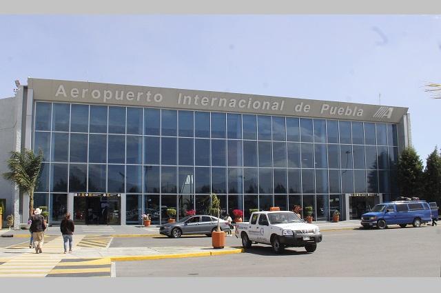 Se desploma flujo de pasajeros 91% en el aeropuerto de Puebla