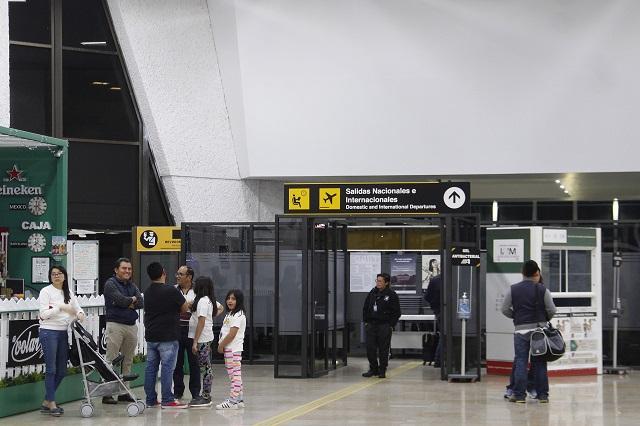 Por Covid-19, baja actividad en aeropuerto de Huejotzingo