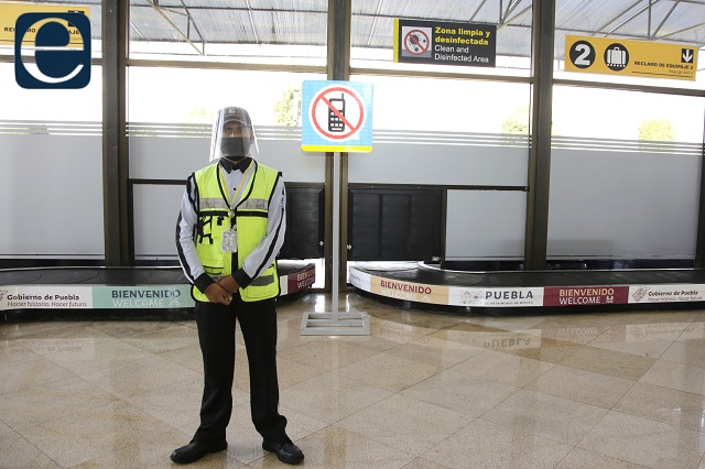 Simulacro de amenaza de bomba realiza aeropuerto de Puebla