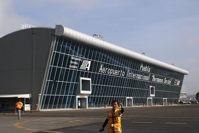 El aeropuerto de Puebla, el que más viajeros nacionales transporta