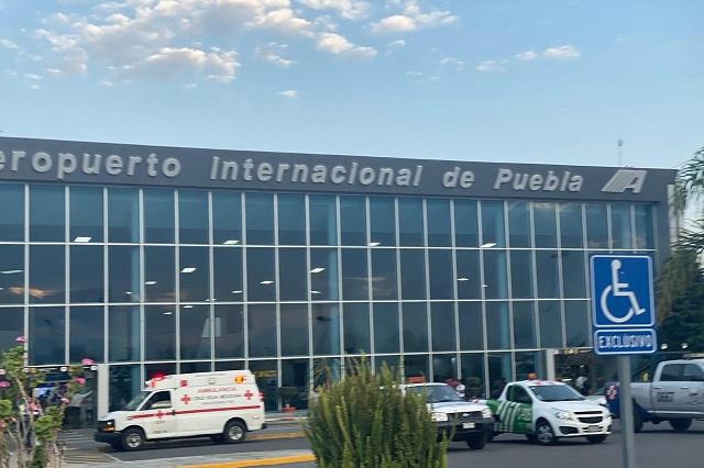 Pasajera causa pánico en Aeropuerto de Huejotzingo