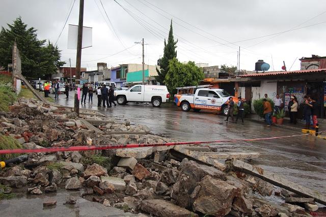 Monitorean puntos de riesgo ante lluvias en Puebla