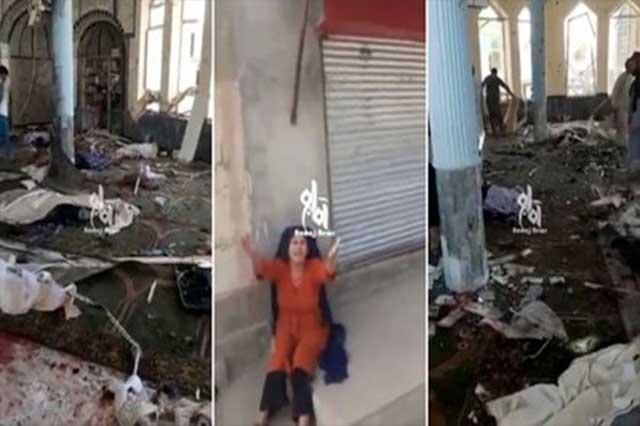 Explosión en mezquita de Afganistán deja al menos 100 muertos