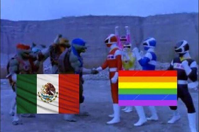 Aficionados del Tri y la comunidad LGBTTTI celebran juntos