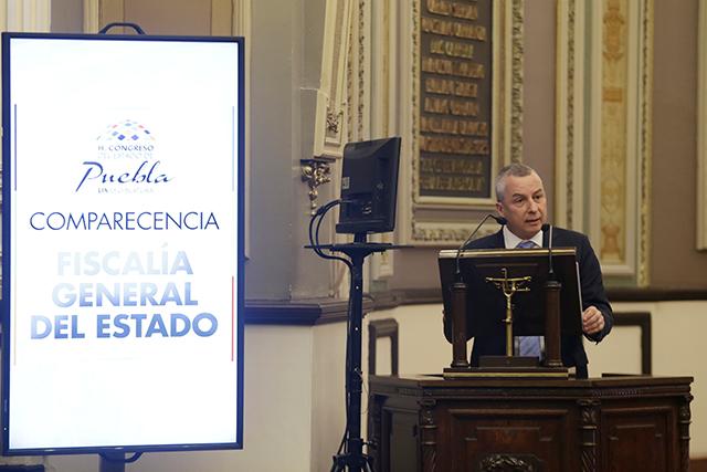 Reconoce fiscal Carrancá que en Puebla opera el crimen organizado