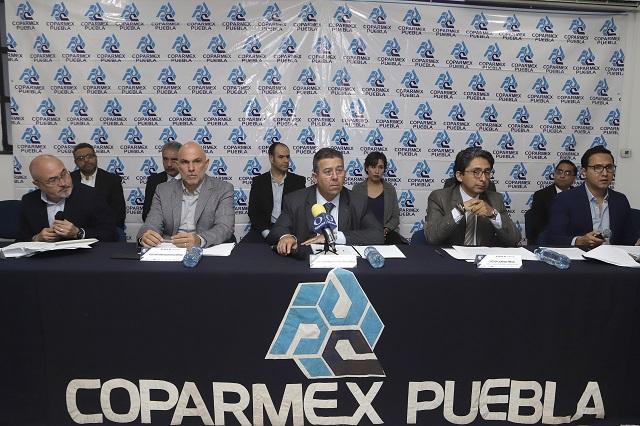 Socios de Coparmex Puebla reprueban gestión de Barbosa