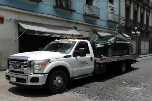 Agrede a agente vial en el Centro Histórico de Puebla