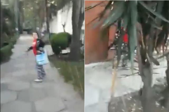 Ataca con gas pimienta a repartidor por no llegar hasta su puerta
