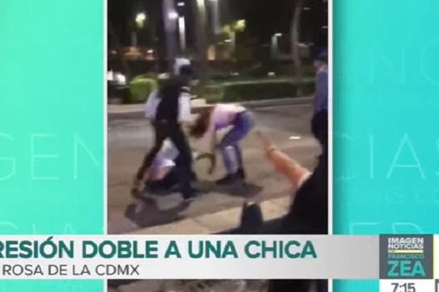 Video: Testigos graban cómo golpean a chica pero no la defienden