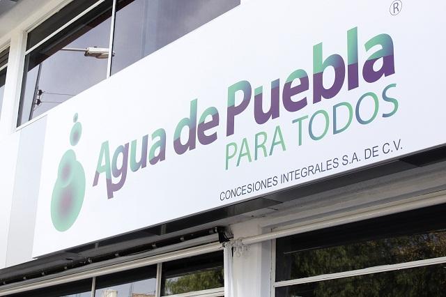 Suma 230 mdp la deuda congelada a usuarios: Agua de Puebla