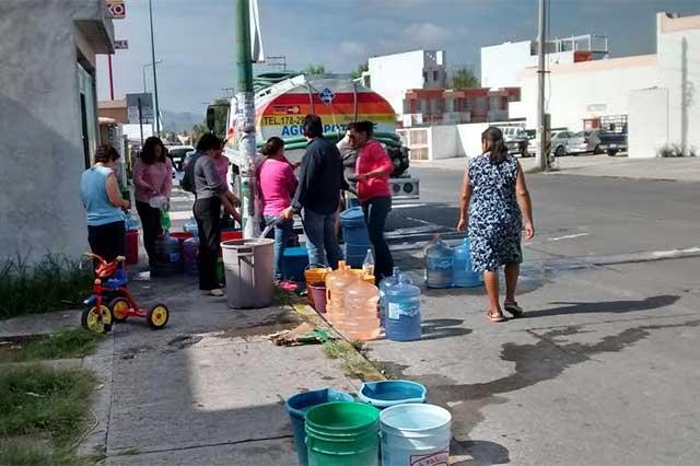 Se restablece servicio de agua en Los Héroes Puebla