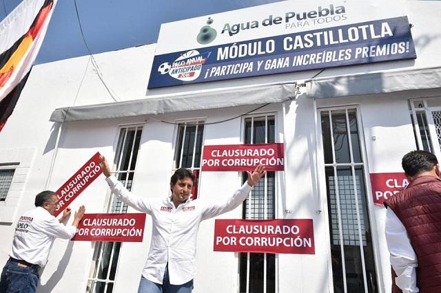 Clausura José Juan Espinosa sede de Agua de Puebla en Castillotla