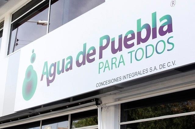 Agua de Puebla amplía plazo para pago anual durante todo enero