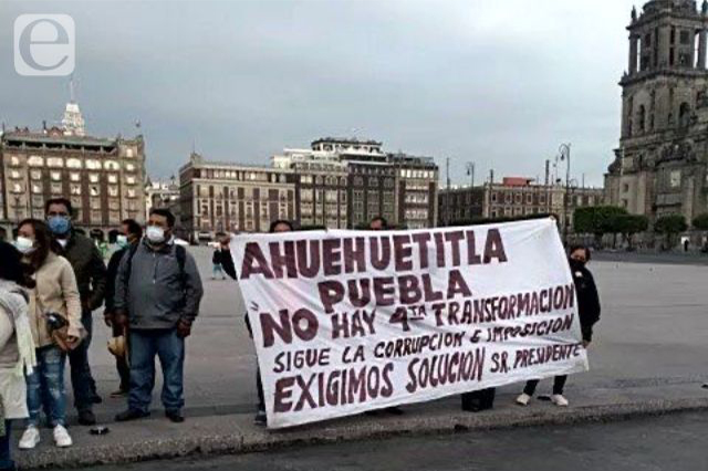 Conflicto de Ahuehuetitla llega a Palacio Nacional
