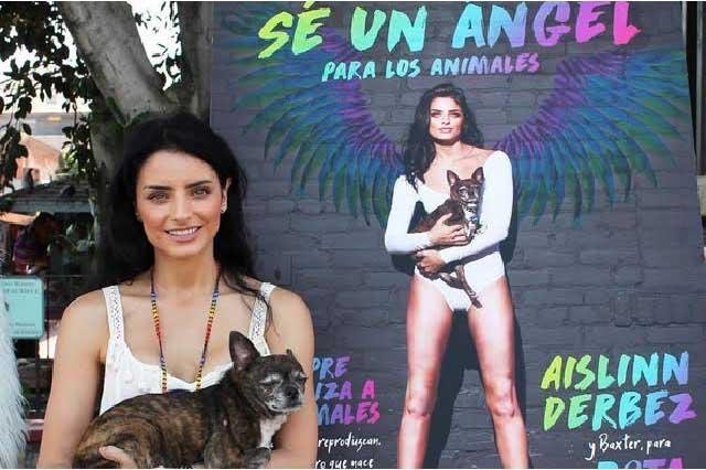 Aislinn Derbez se une a PETA en defensa de los animales