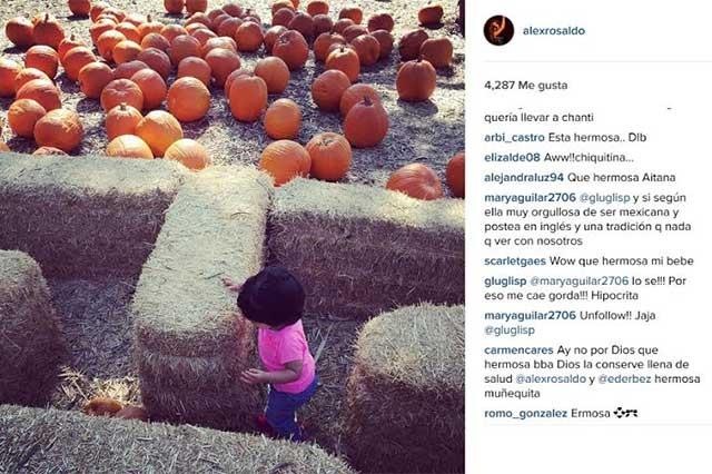 Halloween: Hija de Eugenio Derbez disfruta búsqueda de calabazas