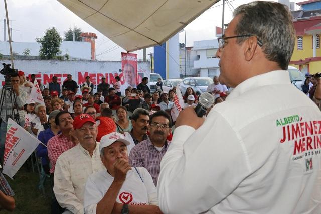 Cierra campaña Jiménez Merino en zona de Texmelucan