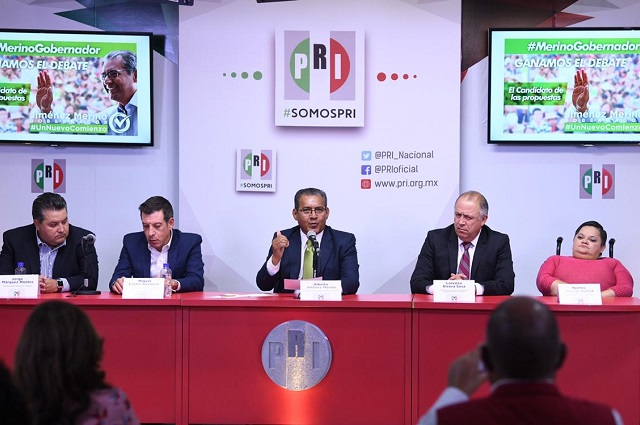 Descarta Jiménez Merino declinar a favor de Cárdenas Sánchez
