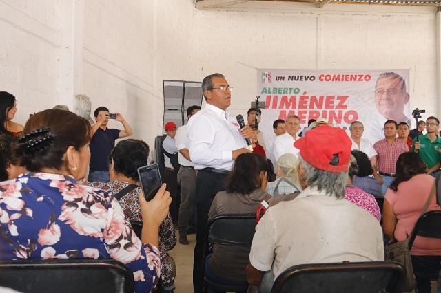 Critica Jiménez Merino a quienes ya casi se reparten el gobierno