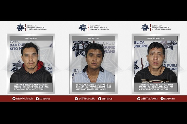 Policía pesca a tres por asaltar Oxxo en Héroes de Puebla
