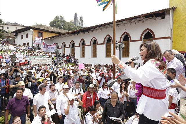 Denuncia Blanca Alcalá inequidad en la campaña electoral