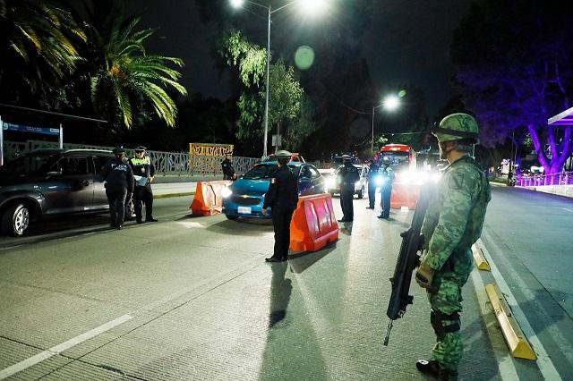 Con el Ejército  fortalecen el operativo alcoholímetro en calles de Puebla