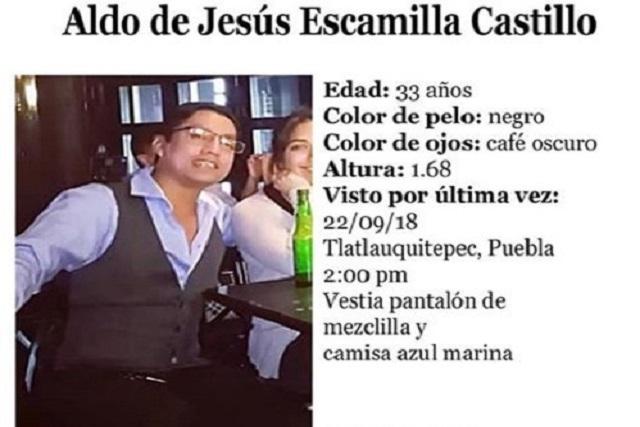 Buscan a joven de Puebla desaparecido en Tlatlauquitepec