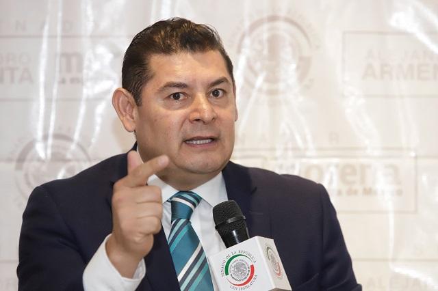 Va Armenta por alcaldía de Puebla y gubernatura en 2024