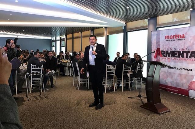 Habrá incentivos para empresarios poblanos, ofrece Alejandro Armenta
