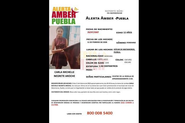 FGE activó Alerta Amber para localizar a menor de 12 años