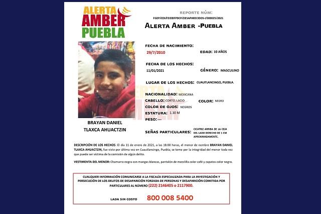 Activan Alerta Amber para localizar a menor en Puebla