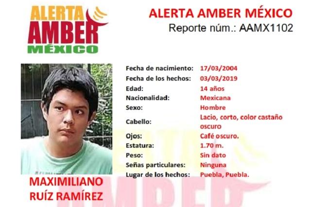 Activan Alerta Amber para buscar a niño desparecido en Puebla