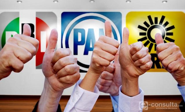 PRD, PAN y PRI preparan frente contra Morena en la CDMX