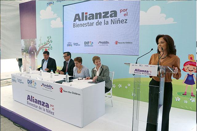 Dinorah López de Gali testifica alianza por nutrición de niños