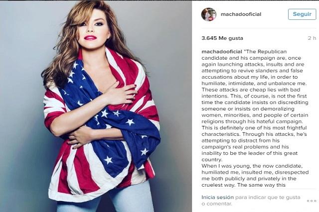 Alicia Machado le responde a Donald Trump sobre video sexual