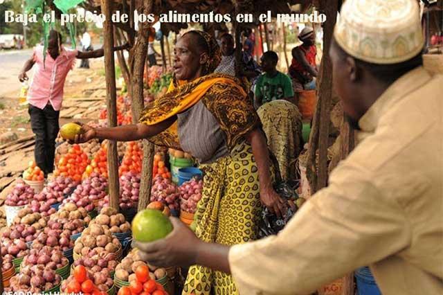Alimentos en todo el mundo bajan de precio en el último mes