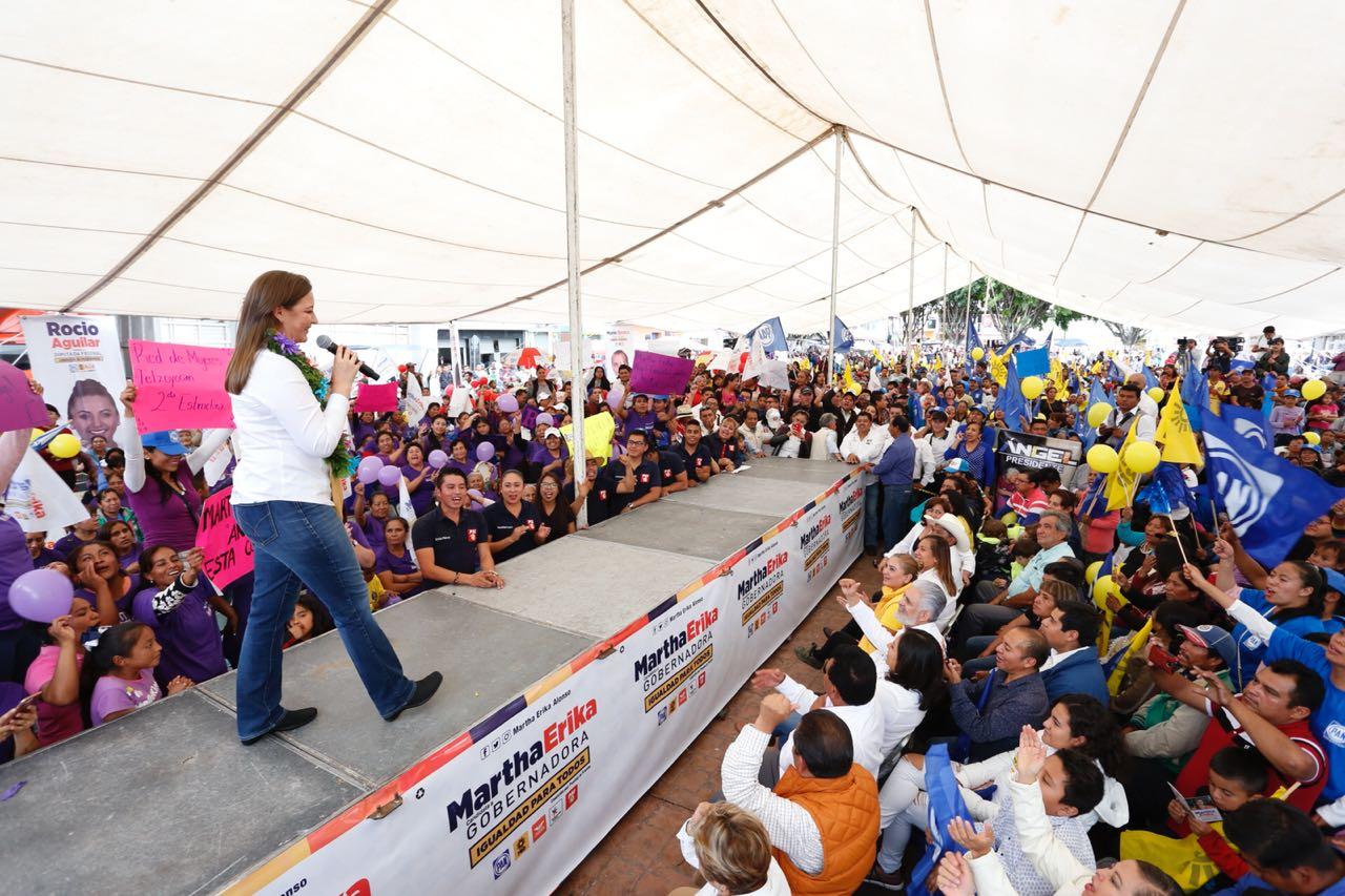 Martha Erika ofrece libramiento de Huixcolotla a la Puebla-Orizaba