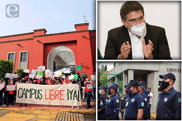 Exigen liberar UDLAP por regreso a  clases y Ríos Piter ofrece diálogo