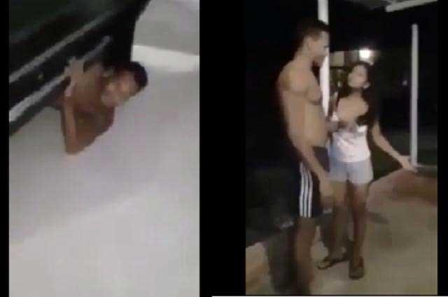 Suegros sorprenden a mujer infiel con su amante bajo la cama