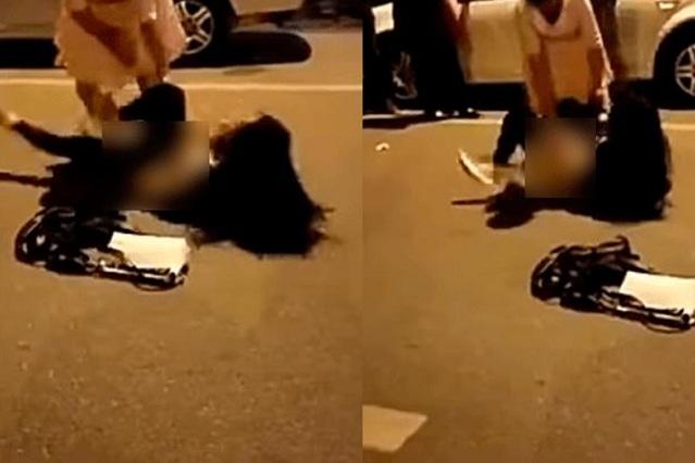 Graban video de mujer que da golpiza y desnuda a la amante de su esposo