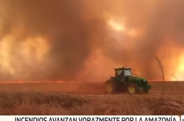 El Amazonas en estado de emergencia, lleva 16 días en llamas